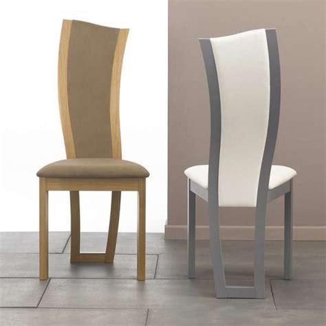 chaise de salle a manger contemporaine chaise de salle 224 manger contemporaine en tissu et bois