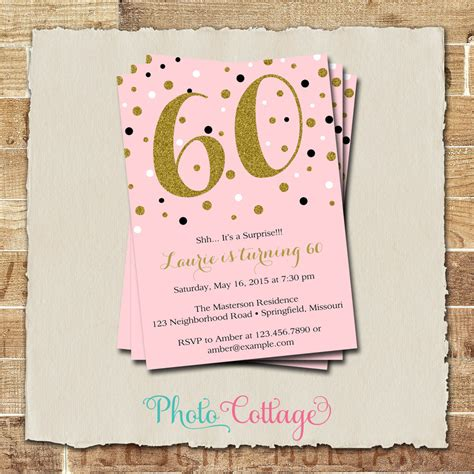 60 birthday invitation templates 60th birthday invitations gangcraft net