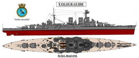 Paint Color Schemes by Wem Hms Hood Print P 002 White Ensign Models