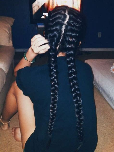 how to do two french braids wit weave 40 best two french braids images on pinterest natural