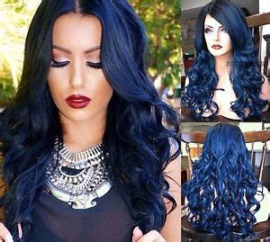 is ombre blue hair ok for older women usa ombre dark blue lace front skin top heat ok dark root