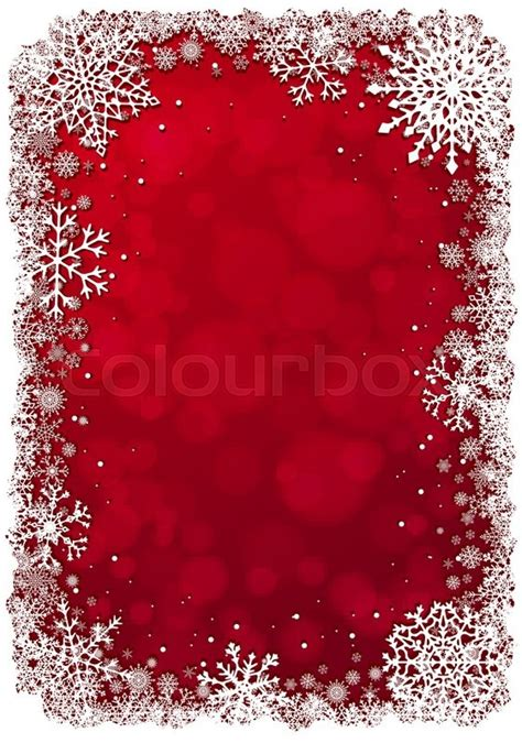 christmas wallpaper vertical red christmas background with white frame of snowflakes