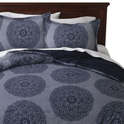 threshold bedding threshold chambray medallion comforter set target
