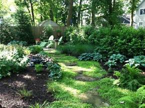 Small shady backyard traditional landscape new york by harmony design group