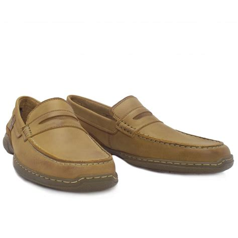 loafers casual camel active carlton mens casual brown leather loafer