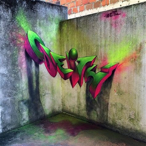 3d murals paintings images insane 3d graffiti murals by odeith clique vodka black
