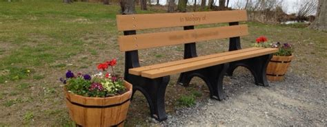 park bench memorial beautification programs trinity memorial funeral home