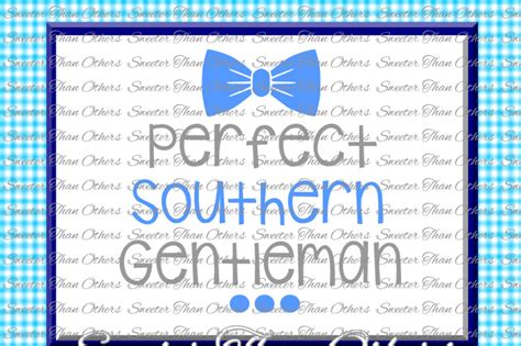 baby boy svg perfect southern gentleman onesie cut file
