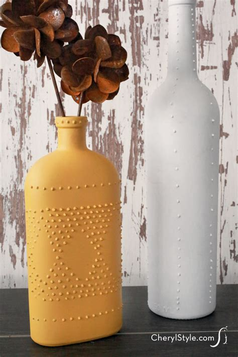 Decorate A Onesie Puff Paint Wine Bottle Vases Everyday Dishes