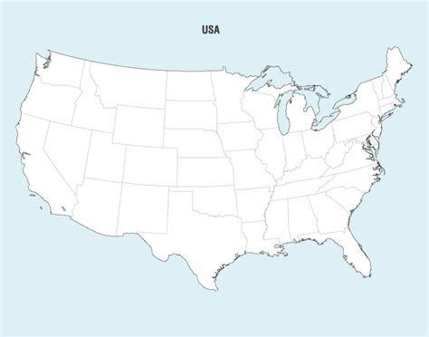usa map ai united states map ai 미국 지도 일러스트 hinari