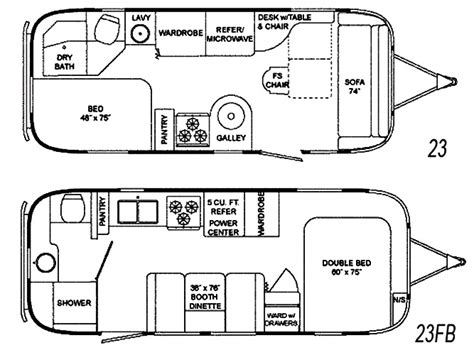 airstream travel trailer floor plans the vintage airstream flying cloud 23 foot travel trailer