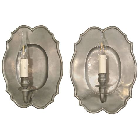 Pewter Sconces pair of pewter sconces from the 20th century for sale at 1stdibs
