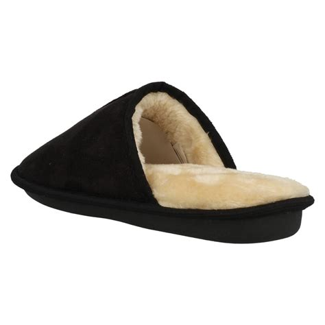 memory foam slippers mens mens memory foam plain mule slippers ebay