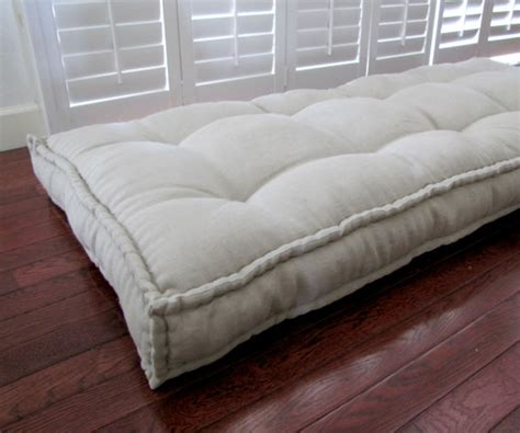 futon sitzkissen linen daybed mattress custom cushions tufted linen cushion