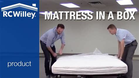 Bed In A Box Memory Foam Mattress by Rc Willey Bed In A Box Memory Foam Mattress Unboxing