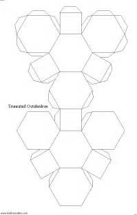 纸制模型截角八面体