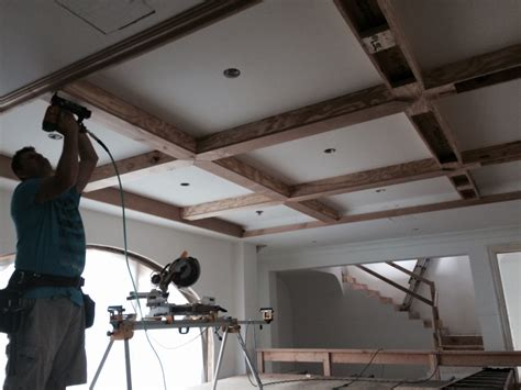 Coffered Ceiling Height Dealing With Beam Height Offsets For Coffered Ceiling
