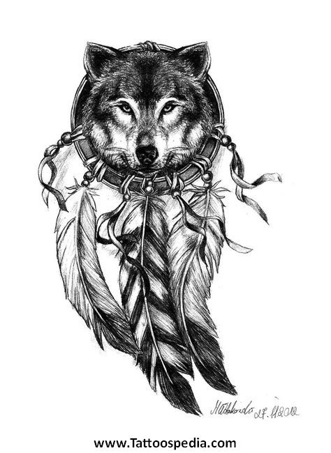 feminine wolf tattoo feminine wolf tattoos wolf 20with 20dreamcatcher