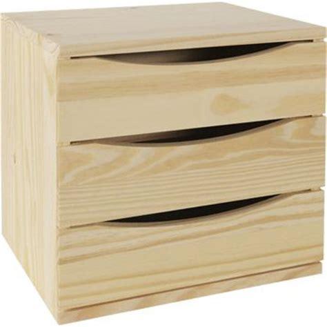 bloc modulable 3 tiroirs en pin brut leroy merlin 27 50