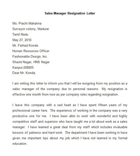 resignation letter template 25 free word pdf documents