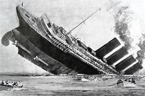 German U Boat Sinks Lusitania book review dead by erik larson lusitania by greg king and wilson wsj
