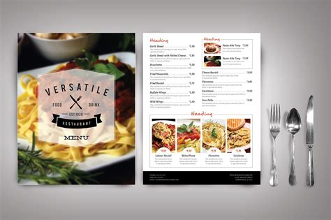 design cafe pacific design center menu modern restaurant menu versatile brochure templates