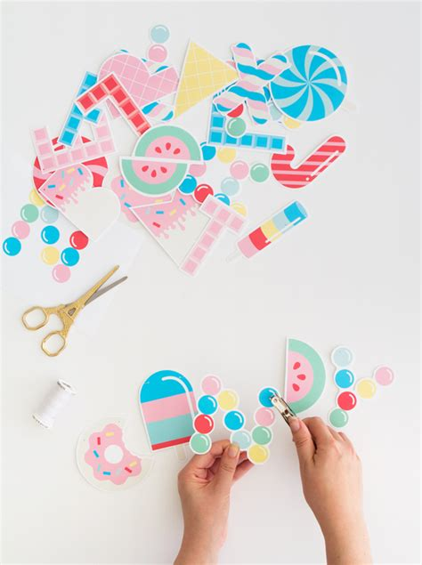 printable garland letters free printable candy letter garland