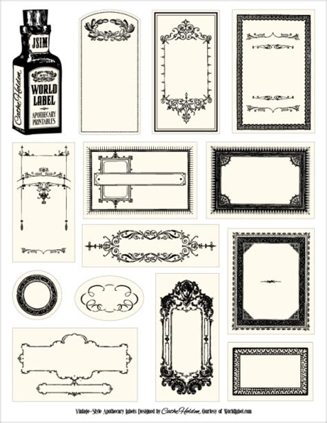Bottle Label Templates Free papercraft apothecary jar labels tags ideas