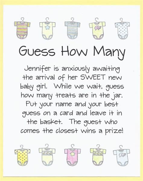 fast and easy baby shower baby shower guess how many jar guessing