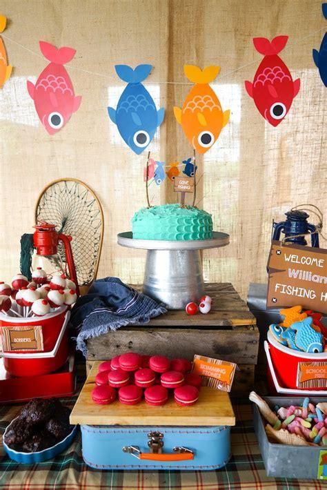 Fish Themed Baby Shower by Kara S Ideas William S Fishing Birthday