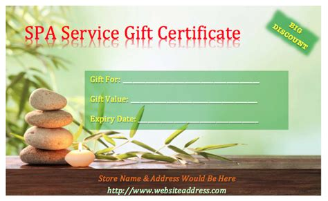 free spa gift certificate template printable 36 free gift certificate templates bates on design