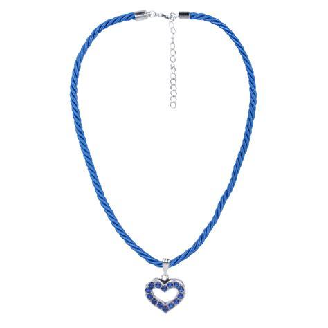 Weihnachtsdeko Modern 3772 by Halskette Mit Herzanh 228 Nger In Blau Schlick Accessoires