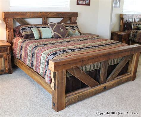 rustic king bed frame 25 best ideas about rustic bed on rustic bed