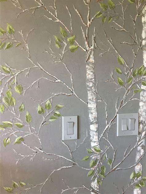 plaster stencil aspen tree walls stencils plaster