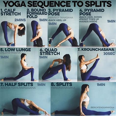 yoga stretching tutorial best 25 the splits ideas on pinterest doing the splits