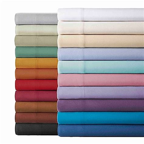 bed bath and beyond flannel sheets micro flannel 174 solid sheet set bed bath beyond