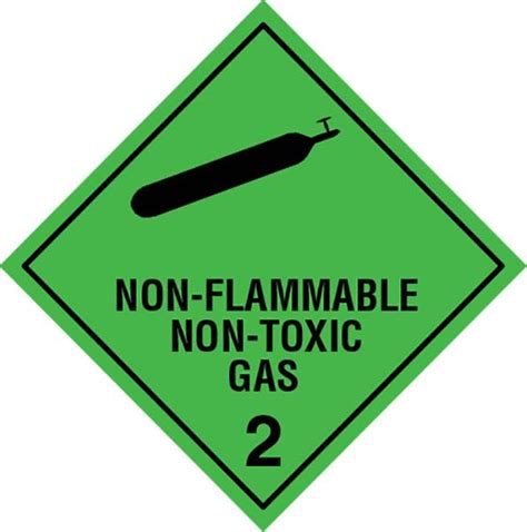 Label Sticker Dg Foto class 2 2 non flamable nontoxic gas labels slicker stickers