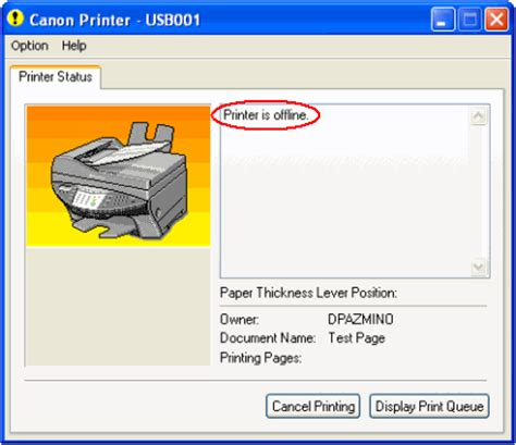 why is my printer offline canon knowledge base set printer from offline to online