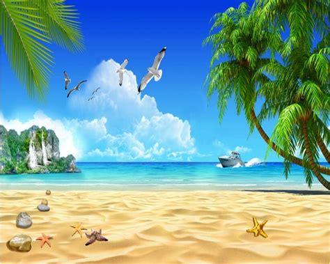 beibehang  fashion senior wallpaper beach coconut trees