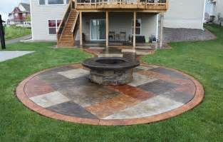 Backyard Concrete Patio Ideas Concrete Patio Ideas Budget Landscaping Gardening Ideas