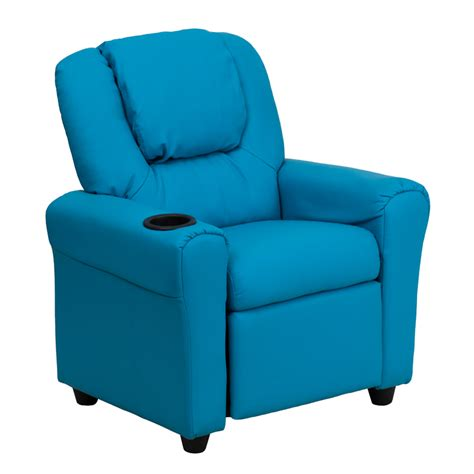 turquoise recliner chairs flash furniture contemporary turquoise vinyl kids recliner