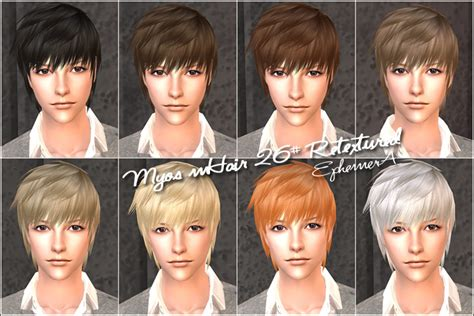 download hair male the sims 2 sims 2 male ponytail hair sims cc wish list pinterest