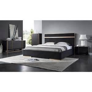 black modern bedroom set nova domus cartier modern black brushed bronze bedroom set