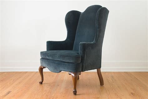 blue velvet wing chair blue velvet wing chair homestead seattle