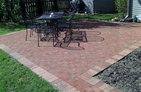 easy brick patio simple brick paver patio designs modern patio outdoor