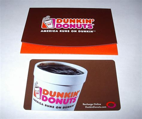 Where To Buy Dunkin Donuts Gift Card - 2 two dunkin donuts coffee cup gift cards and holders ebay