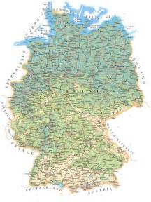 geography detailed map of germany