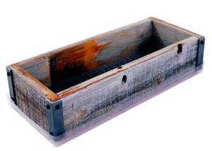 reclaimed barnwood planter box made from rustic weathered