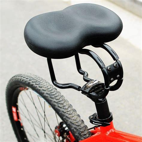 bike seat no pressure bike bicycle seat noseless saddle comfort suspension padded cushion ebay