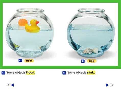 Objects That Sink And Float by K 1 Objects All Around Physical Sciences